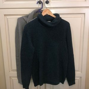 two John Laing cashmere turtleneck sweaters